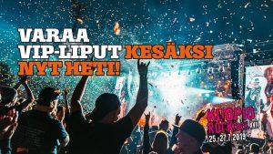 Varaa Kuopiorock VIP -liput kesäksi nyt