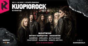 Kuopiorock 2020 kattaus