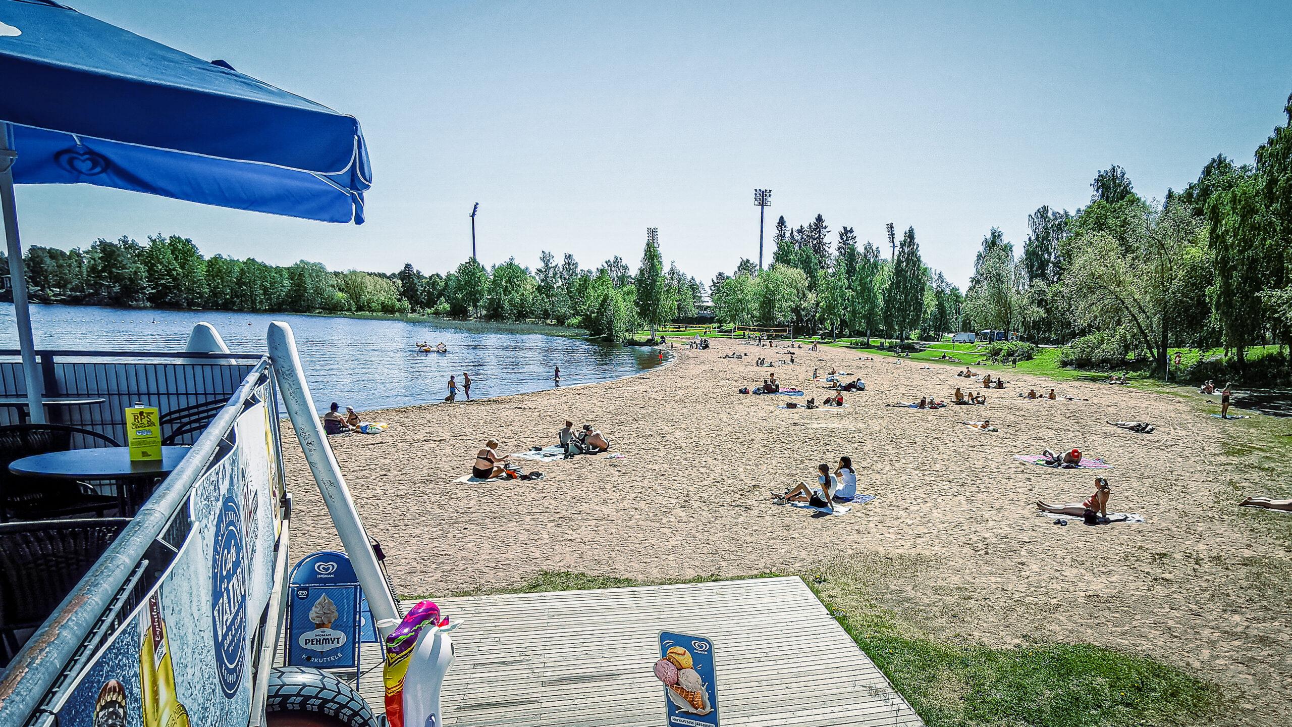 Luokkaretki ,Kuopio, Väinölänniemi, ranta